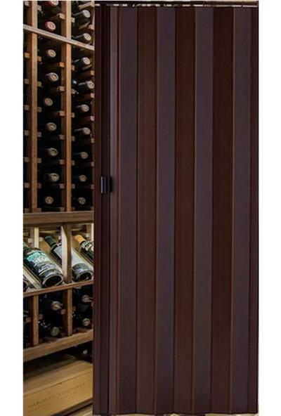 Decotex Akordiyon Kapı Ceviz 85x203 PVC Katlanır Kapı