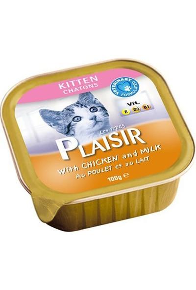 Plaisir Kitten Chatons Sütlü Yaş Mama Tavuklu Yavru Kedi Konservesi