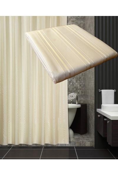 Zethome Tropik Otel Banyo Duş Perdesi A200 Tek Kanat Krem 1X180x200