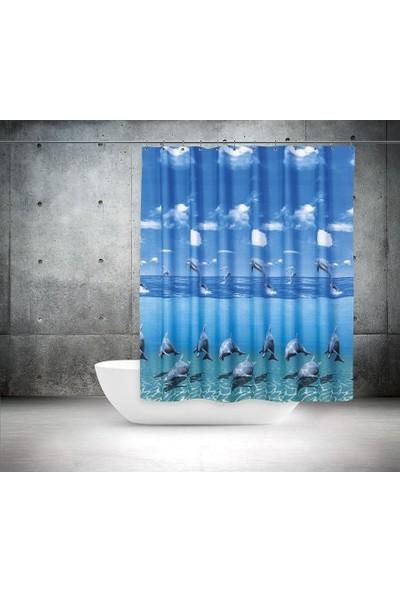 Zethome Tropik Banyo Duş Perdesi 8852 Tek Kanat 1x180x200