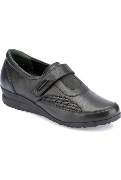 Polaris 5 Nokta 82.100124.Z Siyah Kadın Deri Ayakkabı