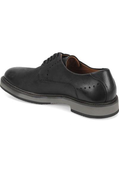 Freemood A128-101 Siyah Erkek Deri Ayakkabı