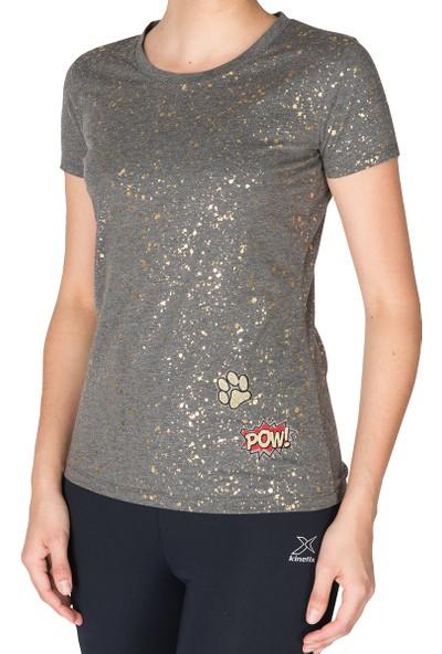 Kinetix Koop T-Shirt Gri Mel Kadın T-Shirt