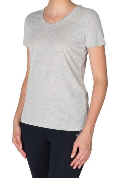Kinetix Sonıa T-Shirt Gri Mel Kadın T-Shirt