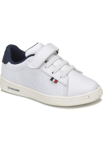 U.S. Polo Assn. Franco Beyaz Erkek Çocuk Sneaker Ayakkabı