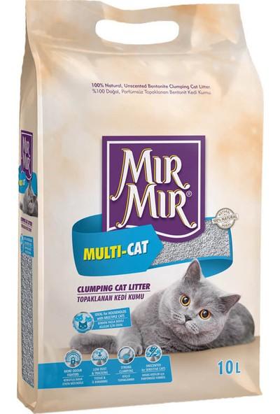 Mır mır Multicat Topaklanan Kedi Kumu 2 x 10 Lt