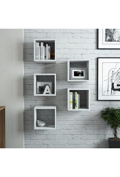 Variant Box Duvar Rafı - Beyaz