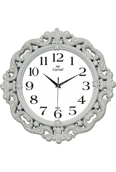 Carven Duvar Saati Gümüş