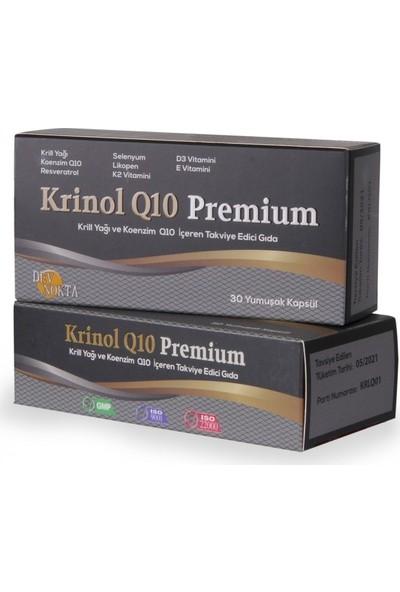 Krinol Q10 Premium - Krill Yağı ve Koenzim Q10 - 30 Kapsül - 2 Kutu