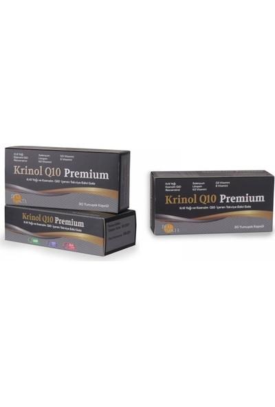 Krinol Q10 Premium - Krill Yağı ve Koenzim Q10 - 30 Kapsül - 3 Kutu