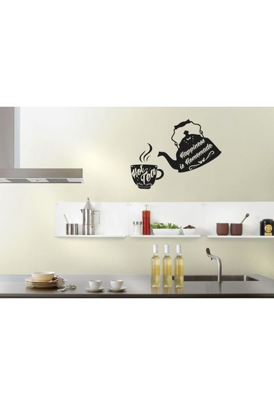 Areksan Happy Kitchen Kettle Hot Tea Sticker