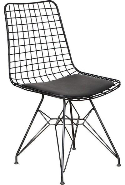 Visuel Country Kafes Tel Sandalye Ofis Cafe Bahçe Balkon Mutfak Siyah