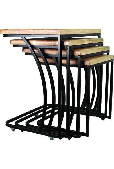 Ak Sandalye Metal C Zigon Masif Ahşap