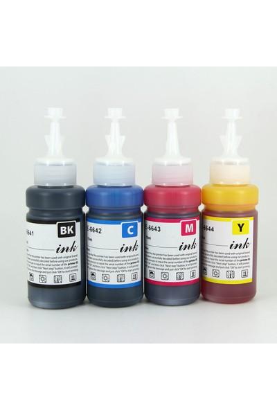 Premium® Epson T664 Uyumlu 4 Renk Kaliteli Mürekkep Seti