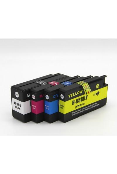 Premium® Hp Officejet Pro 8600 Uyumlu Yüksek Kapasite 4 Renk Muadil Kartuş Seti