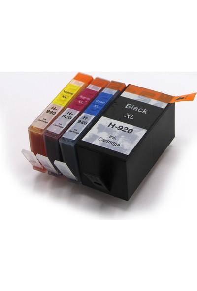 Premium® Hp 920Xl Uyumlu Yüksek Kapasite 4 Renk Muadil Kartuş Seti