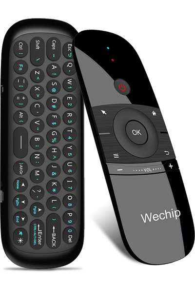 Wechip W1 2.4G Kablosuz Klavye Uzaktan Kumanda Air Mouse