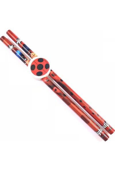 Ladybug Silgi+Kurşun Kalem 2 li LB-5968 (Mucize Uğurböceği)