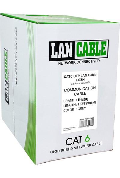 Frisby FNW-CAT632 0,24AWG-0,53 MM LSZH 305MT CAT6 Saf Bakır Kablo