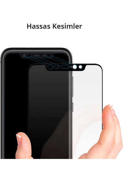 Spigen Xiaomi Mi 8 Cam Ekran Koruyucu Tam Kaplayan Full Cover Black - S11GL24508