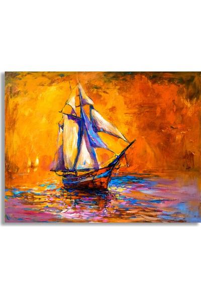 Decobritish Yağlı Boya Tekne Kanvas Tablo