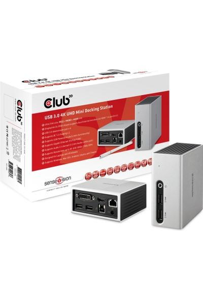 Club 3D USB 3.0 4K UHD Mini Yerleştirme İstasyon CSV-3104D