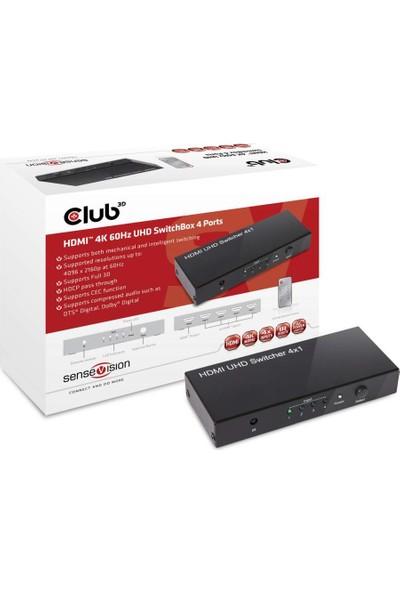 Club 3D HDMI 2.0 UHD Anahtar Kutusu 4 Bağlantı CSV-1370