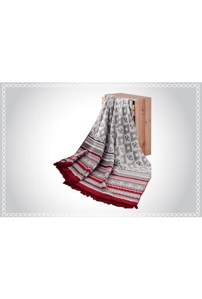 Aksu Tek Kişilik Pamuklu Battaniye Mistic 150 x 200 cm