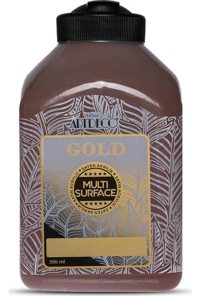 Artdeco Gold Multi Surface Saten Akrilik Boya 500ml 295 Kahverengi