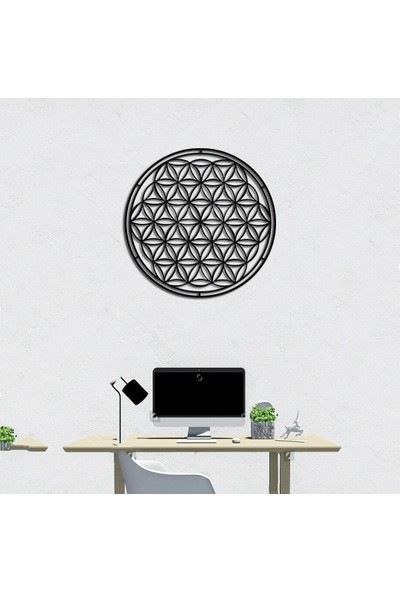 Foccaa Dizayn Metal Tablo Yaşam Çiçeği