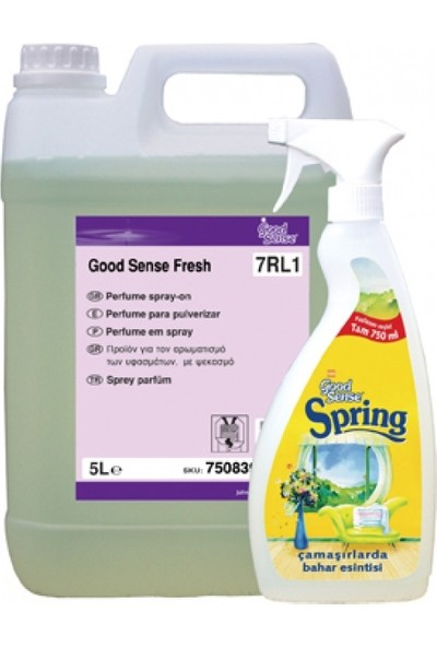 Diversey Good Sense Spring 7RL1 Oda ve Çamaşır Parfümü 5 lt