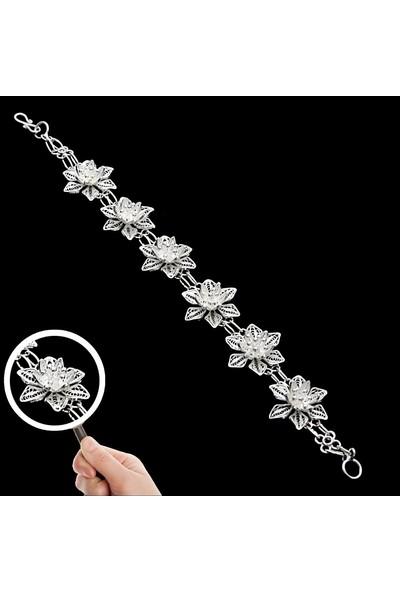 Saray Çarşısı G0201094 925 Ayar Gümüş Telkari Bileklik