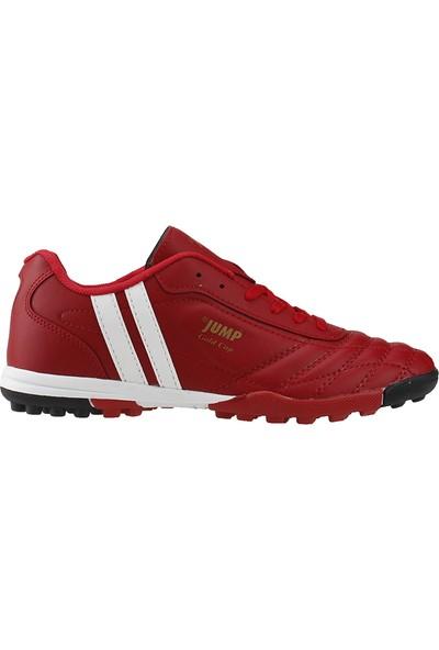 Jump 13258-E Kırmızı Çim Halısaha Krampon Erkek Futbol Ayakkabı