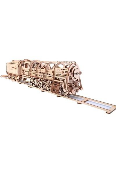 Ugears Ahşap Maket Locomotif Mekanik (443 Parça)