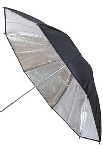 Ayex Stüdyo Reflektör Şemsiyesi 84Cm (33'') Gümüş Siyah