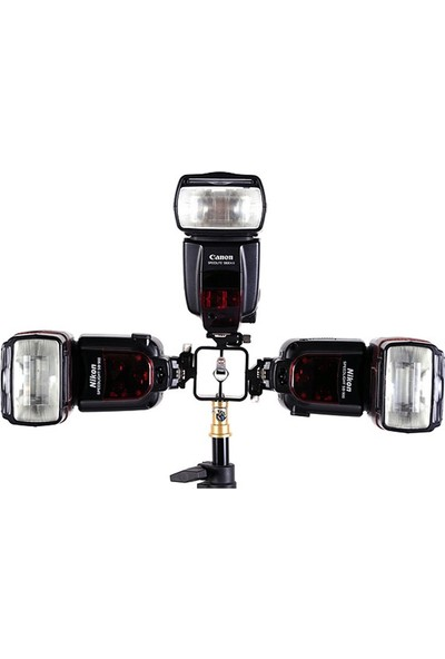 Ayex Tripod Veya Işık Standı İçin 3 Flaş Sabitleme Adaptörü