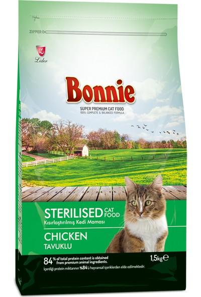 Bonnie Sterilised Tavuklu Kısır Kedi Maması 1,5 kg