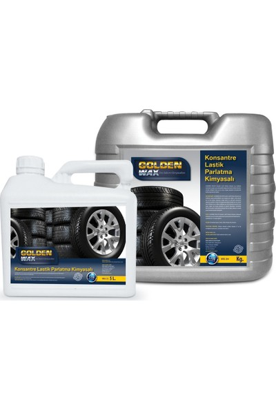 Goldenwax Lastik Parlatıcısı Oto Lastik Yanak Siyahlaştırıcı Lastik Parlatıcı 0,5 Litre