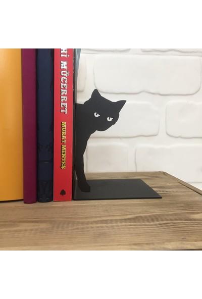 Metal Kitap Tutucu ''Kedi''