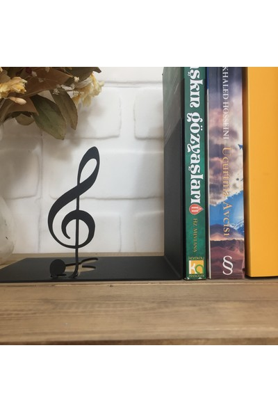 Metal Kitap Tutucu ''Sol Anahtarı Ve Nota''