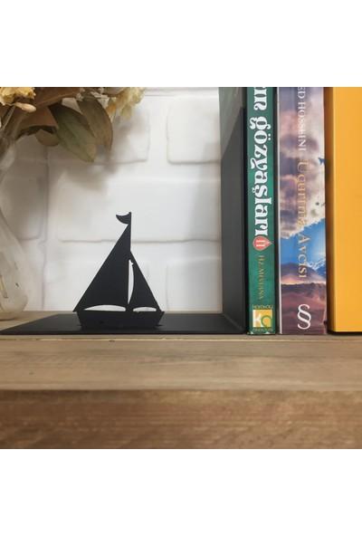 Metal Kitap Tutucu ''Yelkenli Ve Deniz Feneri''