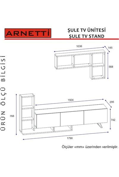 Arnetti Şule Tv Sehpası Beyaz Ceviz