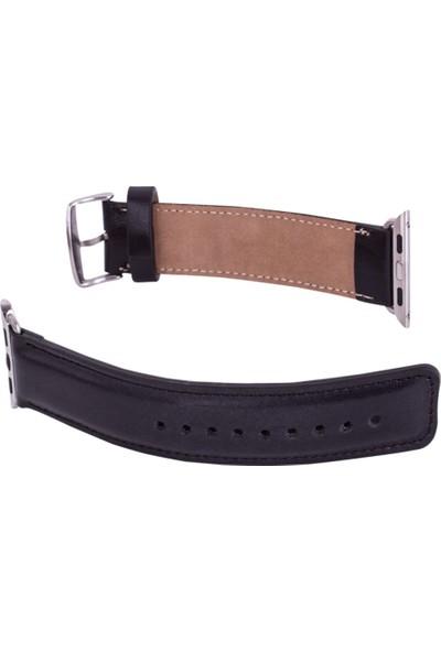 Burkley Apple Watch Siyah Deri Kordon RST1 / 42 mm