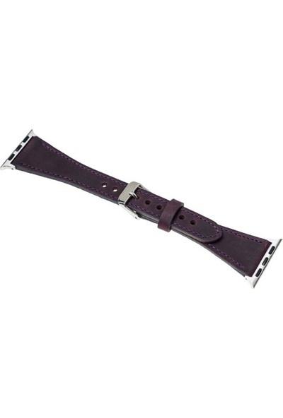 Burkley Apple Watch Mor Deri Kordon G7 / 40 mm
