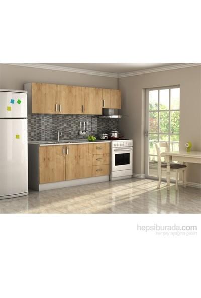 T Designo Safir Mutfak Dolabı - Safir Meşe