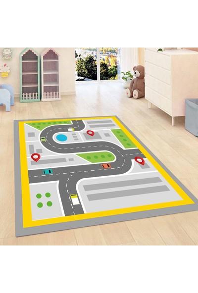 Else Kadser Araba Sürme Oyun 3D Modern Bebek Çocuk Odası Halısı