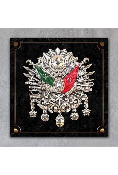 Tek Tablo Osmanlı Arması Kanvas Tablo