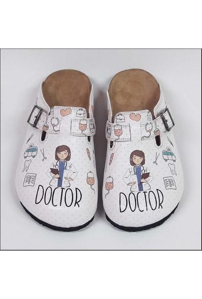 ShoeRokee Doktor Temalı Özel Tasarım Sabo Terlik