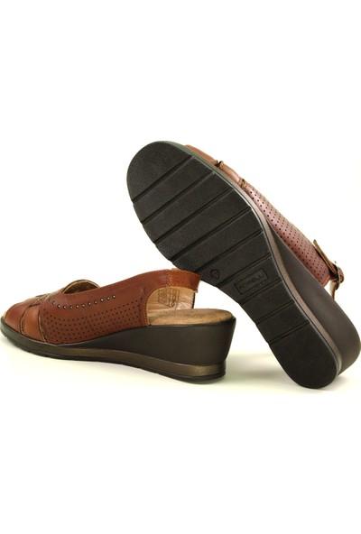 Forelli 27107 Kadın Taba Deri Sandalet