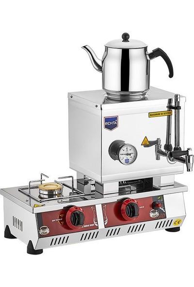 Remta Tüplü Çay Kazanı Tek Demlikli 13 Lt Remta Çay Ocağı Makinesi